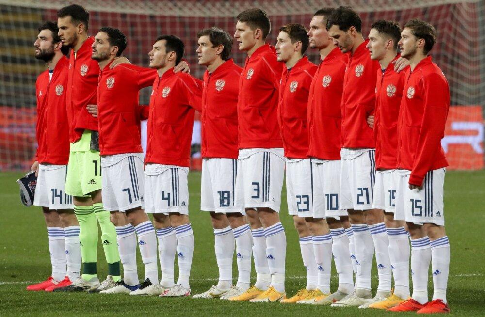 Venemaa jalgpallikoondis enne Serbiaga mängu