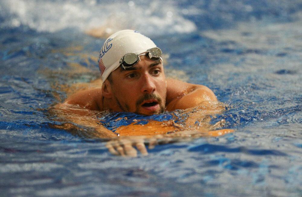 Võistluskeelust vabanenud Phelps hüppab varsti taas võistlusvette