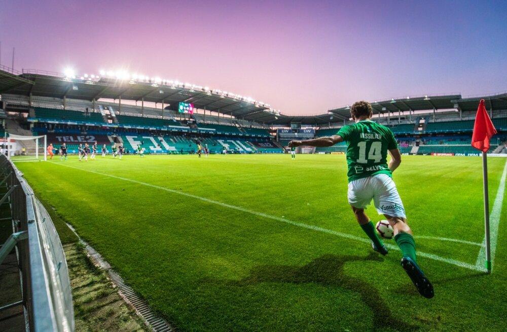 Eesti jalgpalli meistriliiga tähtis kohtumine FC Flora - Nõmme Kalju