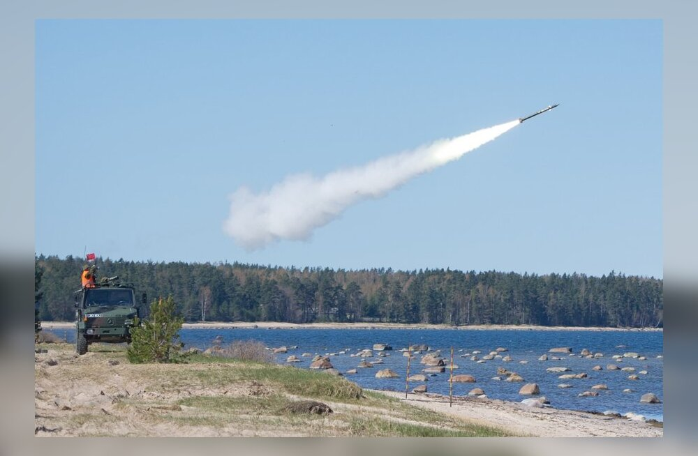 Rutjal toimusid õhutõrjeväelaste raketikompleksi Mistral laskmised