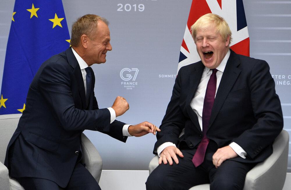 """Johnson viskas Tuskiga lõbusalt nalja hoolimata """"hüüdnimede tülist"""""""