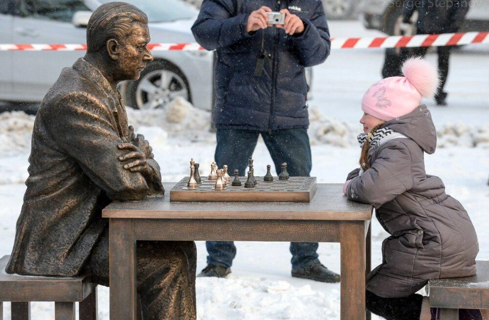 Paul Keres. Monument avamine Narvas