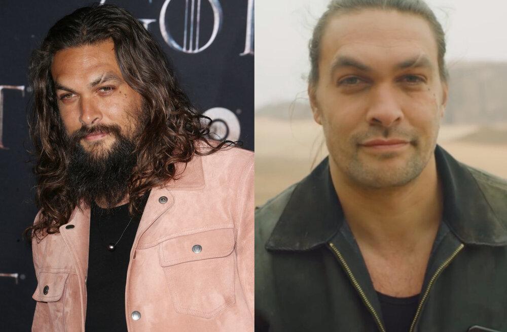Jason Momoa fännid šokis! Mees otsustas oma kurikuulsa habeme ära raseerida ja näeb nüüd hoopis teistsugune välja