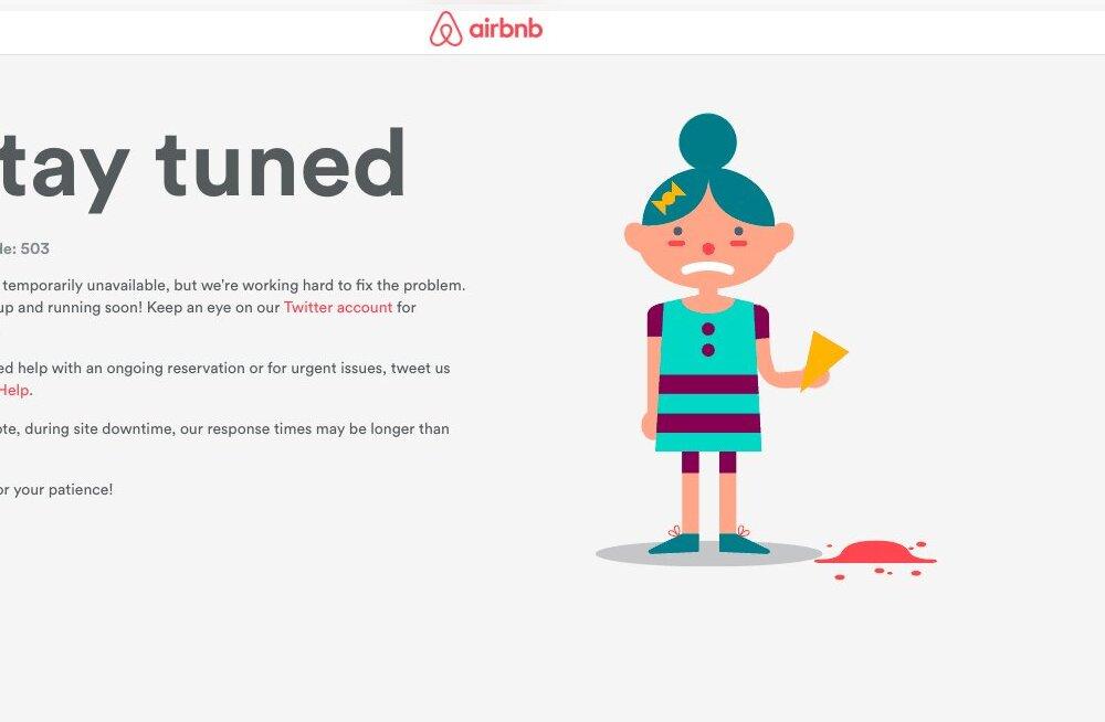 Airbnb oli rikkis