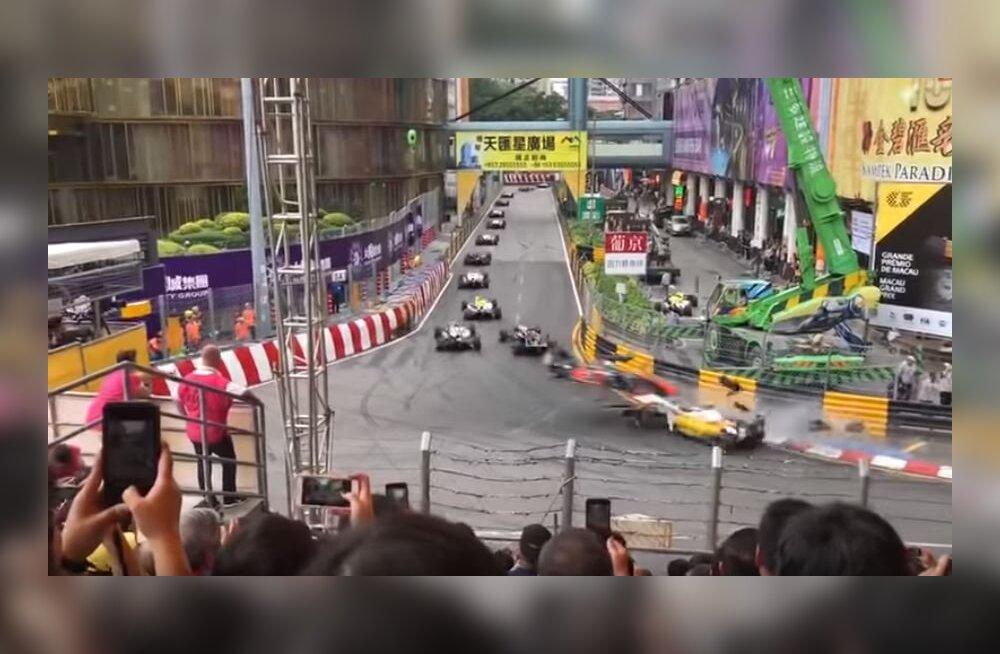 VIDEO   Sakslanna sattus Macau etapil karmi avariisse, Vips ja Aron lõpetasid esikümnes