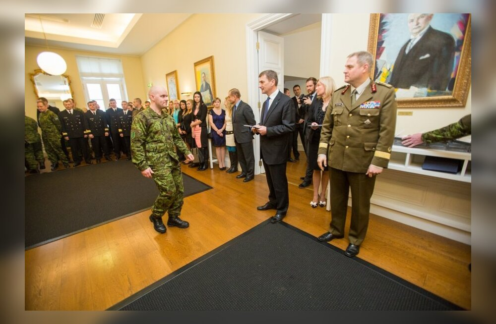 Välismissioonidel osalenud kaitseväelaste vastuvõtt Stenbocki majas