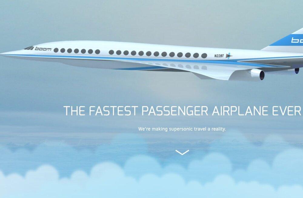 Boom: New Yorgist Londonisse vähem kui nelja tunniga, odavamalt kui Concorde'iga