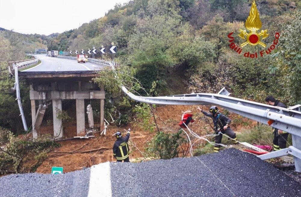 Lõuna-Euroopat räsisid tormid, tulvaveed ja maalihe, hukkus vähemalt viis inimest