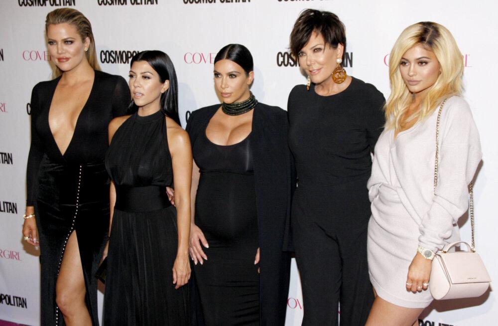 Geniaalsus või hullus? Kardashianide õed kaubamärgistavad oma laste nimed