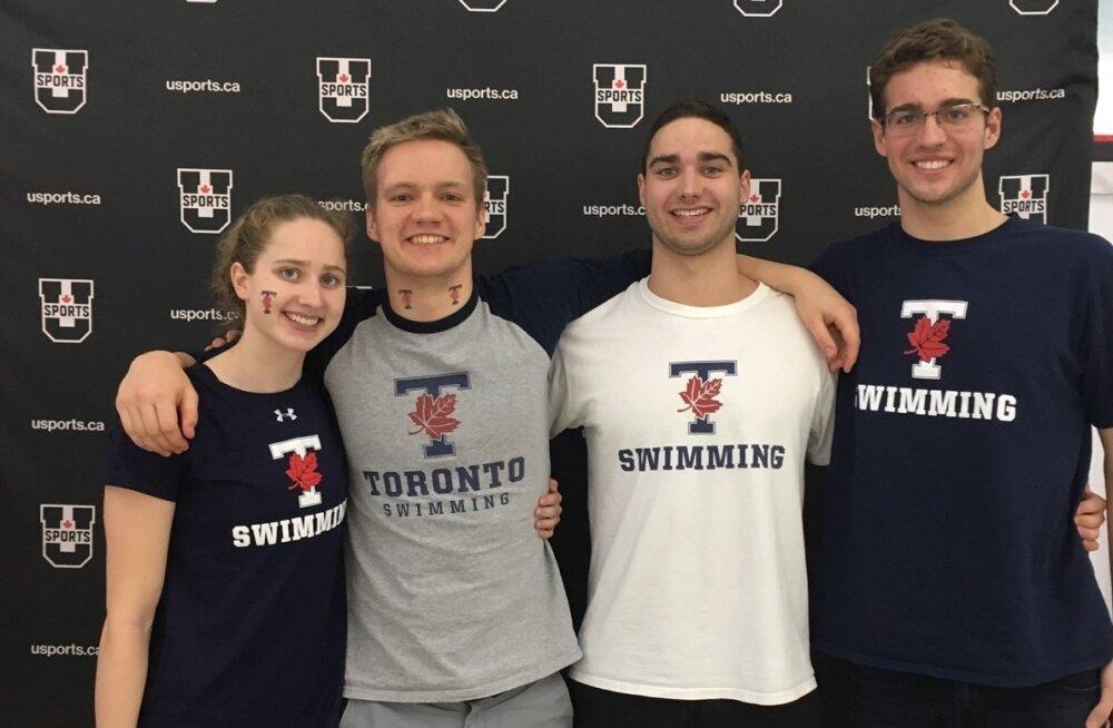 Eesti ujujad Kanada ülikoolide meistrivõistlustel