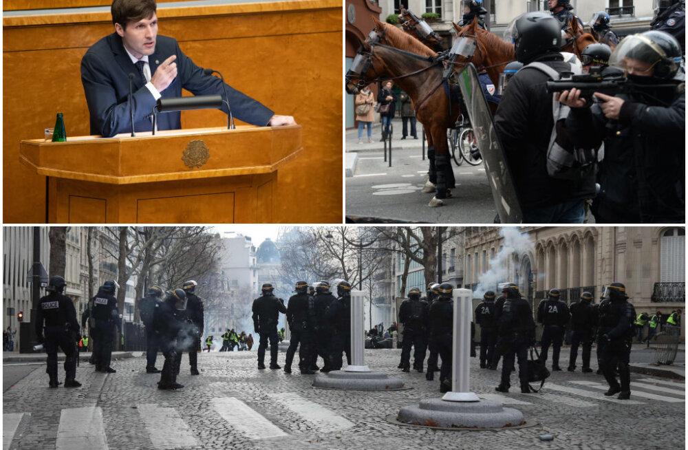Martin Helme kritiseeris Prantsuse politsei kõva kätt märatsema suundunud noorte kinnipidamisel