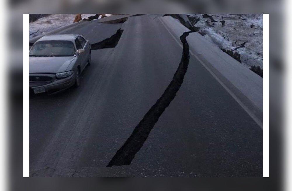 FOTOD ja VIDEOD: Tugeva maavärina üle elanud Alaska turistid ja kohalikud teevad sotsmeediasse postitusi otse kaose keskelt