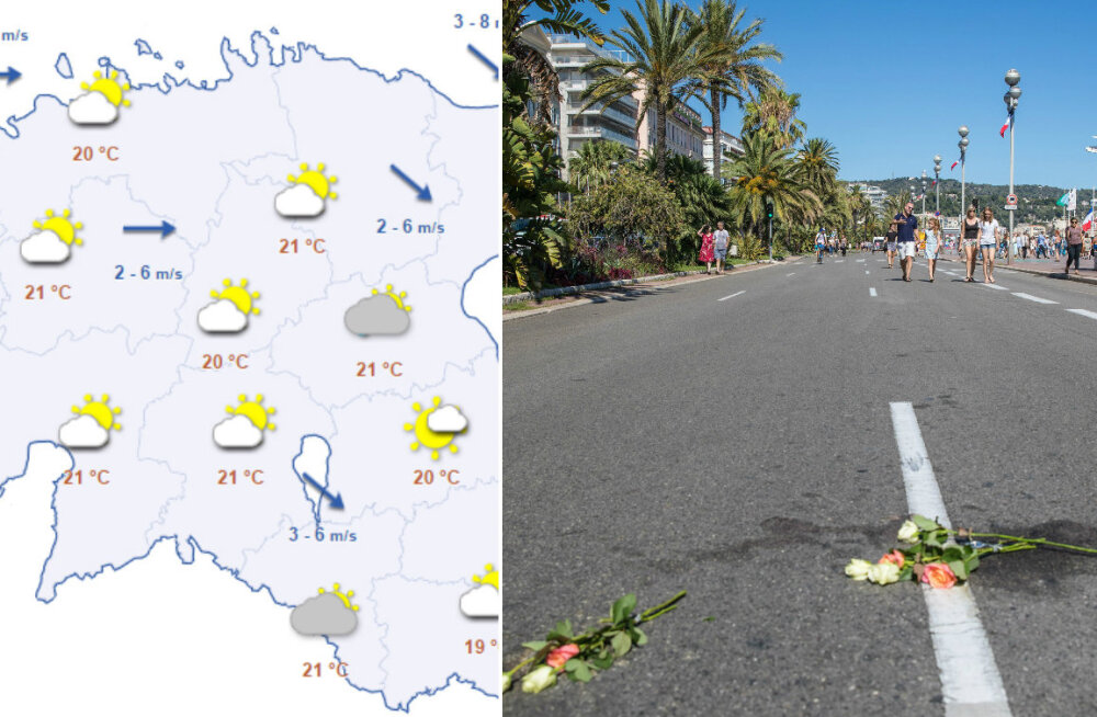 HOMMIKU-UUDISED: 18 Nice'i rünnaku ohvrit on jätkuvalt kriitilises seisundis, alanud nädal tuleb soe, kuid pilvine