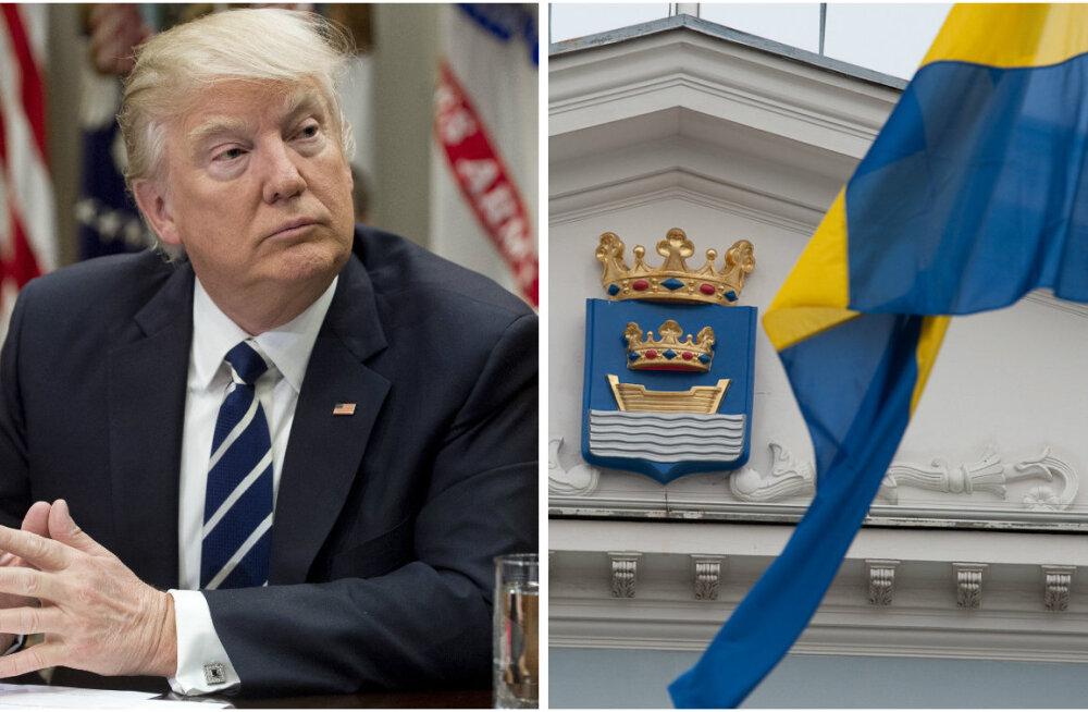 Rootsi saatkond nõuab Trumpi terrorijutu kohta aru