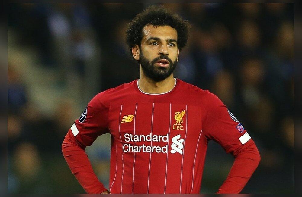 Mohamed Salah koduklubi Liverpooli särgis.