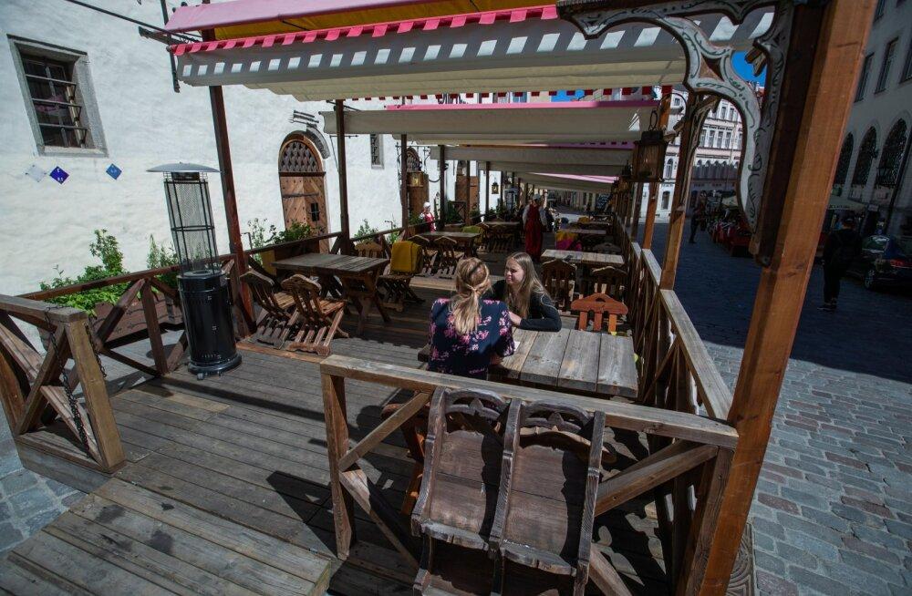 Olde Hansa restorani terrass