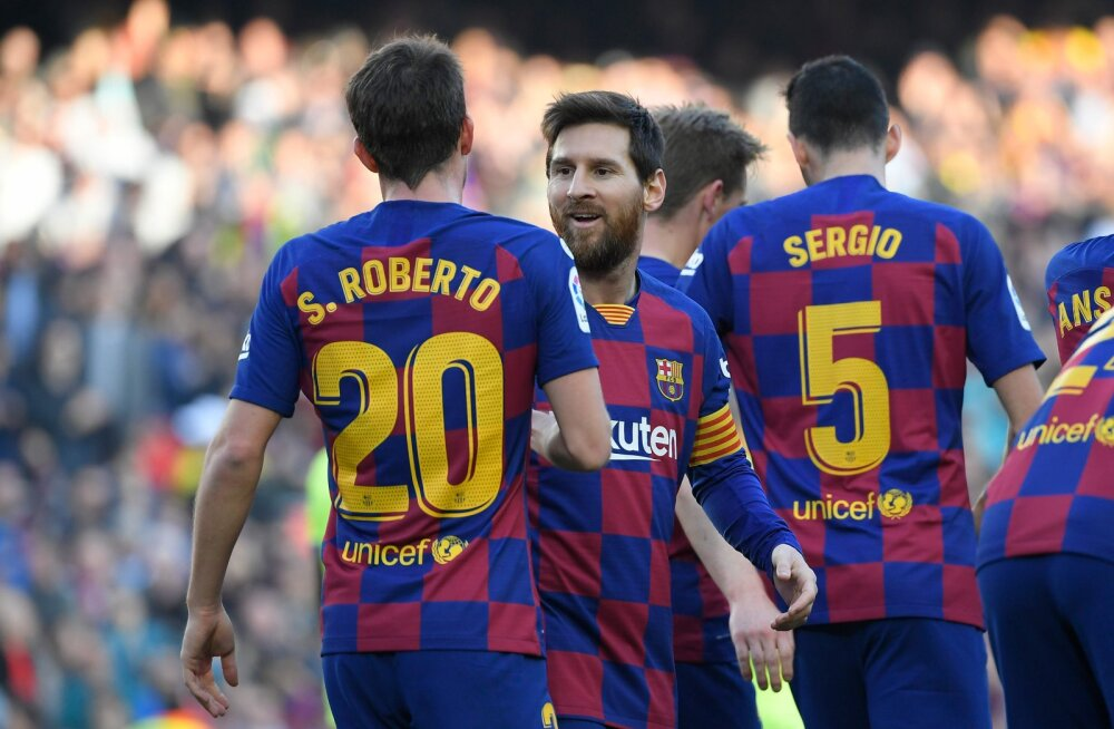 Lionel Messi klubikaaslastega