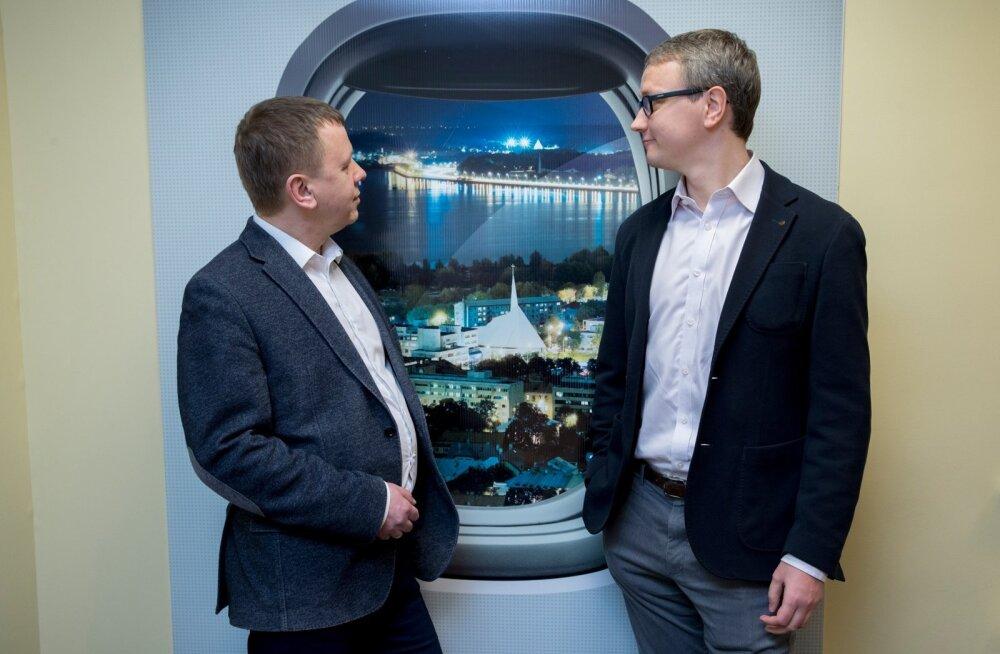Jaan Tamm (vasakul) ja Ahto Pärl vaatavad lootusrikkalt tulevikku. 2019. aastaks oodatakse Nordicalt juba nulli jõudmist või isegi väikest kasumit.