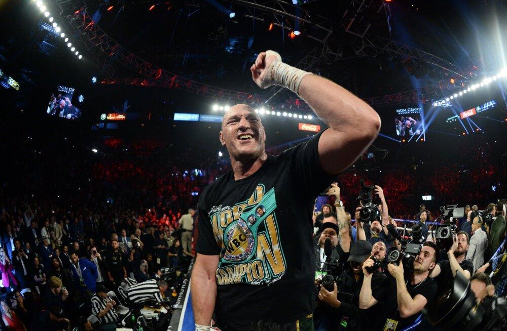 Maailmameister Tyson Fury.
