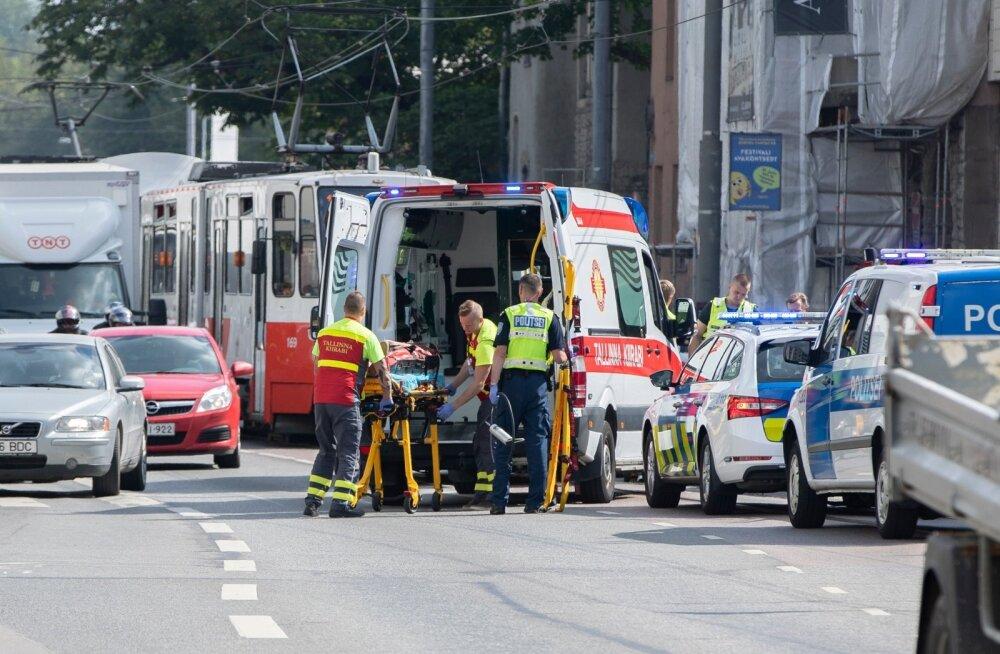 Liiklusõnnetus Tallinna ülikooli ees 30.07.2018