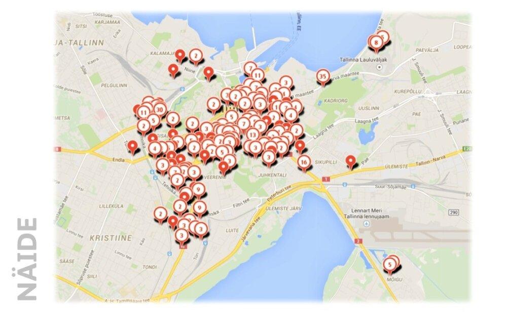 Kinnisvaramüüjate käsitlus Tallinna kesklinna ulatusest