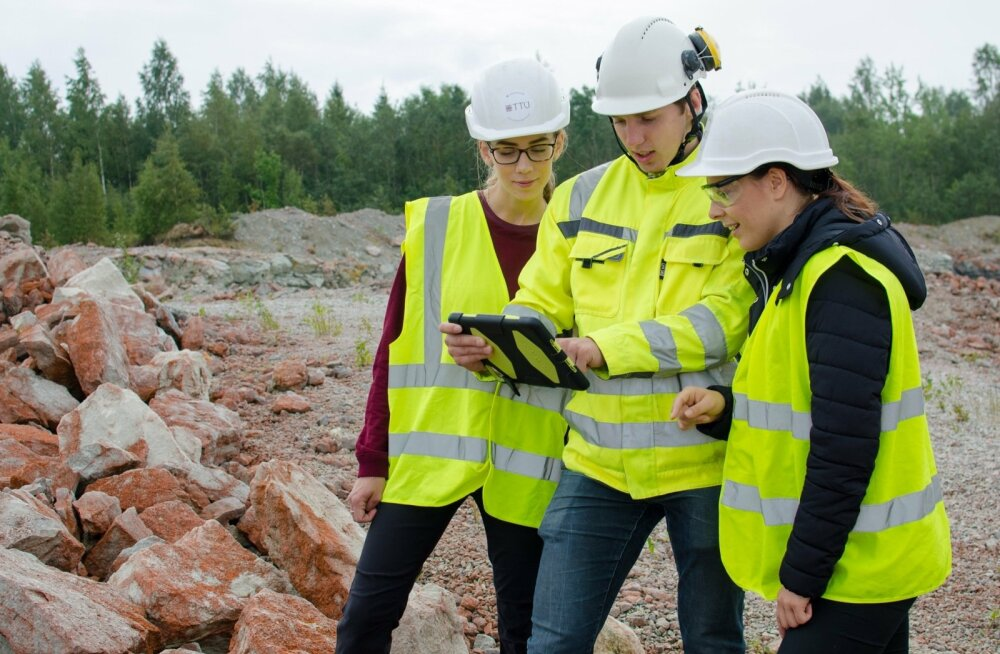 TTÜ Geoloogia instituudi noored praktikal