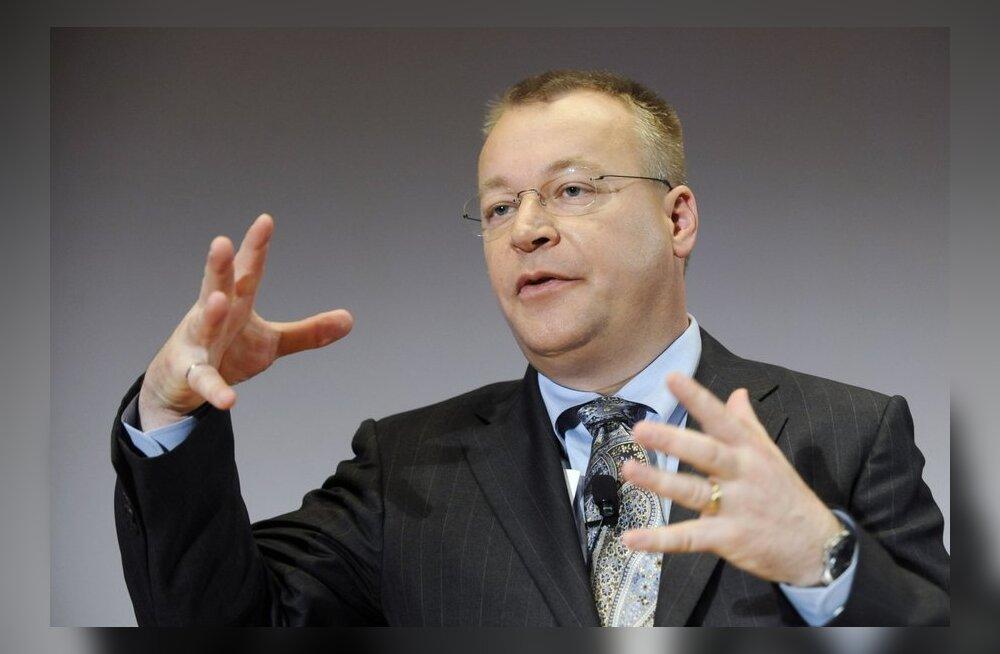 Nokia juht Stephen Elop teenis eelmisel aastal 7,9 miljonit eurot palka