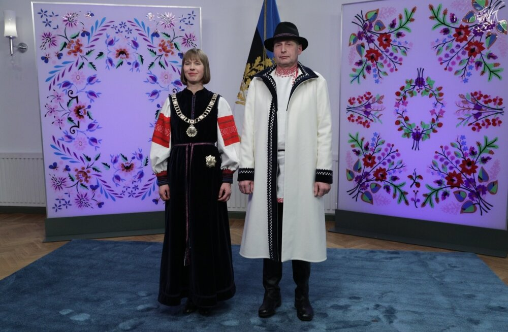 Vabariigi President Kersti Kaljulaid ja härra Georgi-Rene Maksimovski