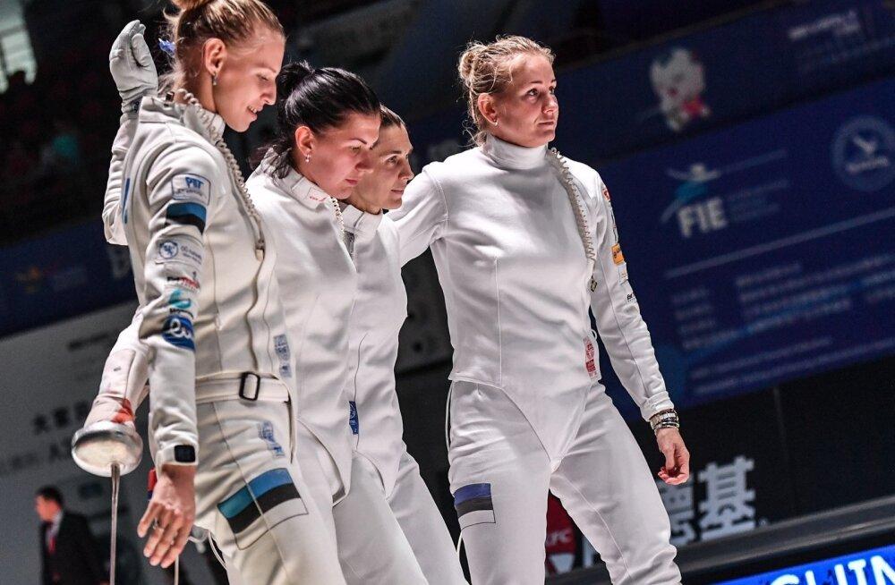 Eesti epeenaiskond – Katrina Lehis, Julia Beljajeva, Irina Embrich ja Kristina Kuusk – jäi seekord medalita.