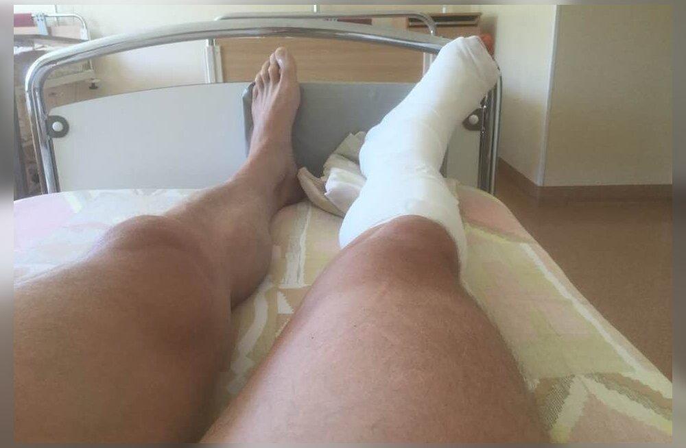 Что случилось? Юрген Лиги лежит в больнице с загипсованной ногой