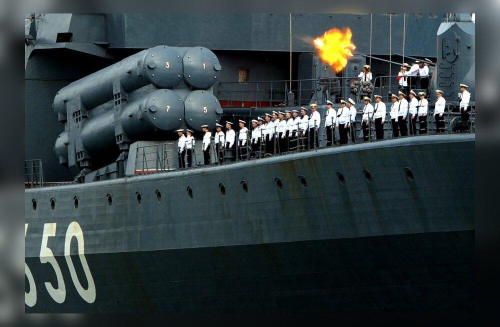 Allveetõrjelaeva Admiral Tšabanenko tervituspauk