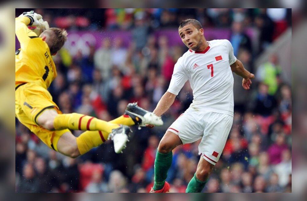 Hispaania väravavaht David De Gea mängus Marokoga