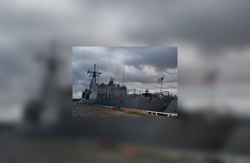 USA sõjalaev USS Klakring Tallinnas (pildid)