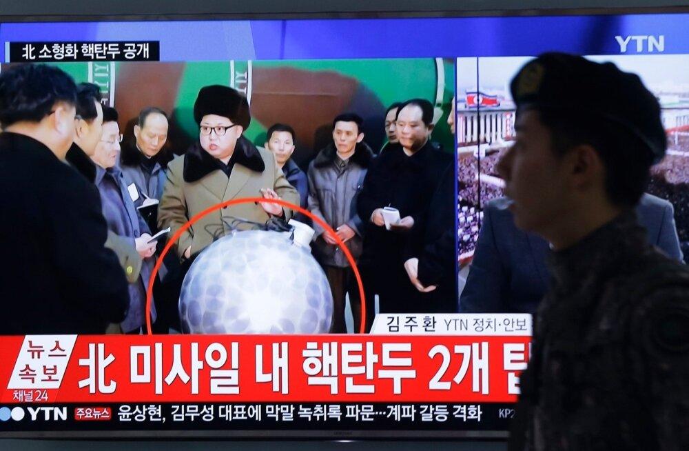 Kim Jong-un kuulutas, et Põhja-Koreal on miniaturiseeritud termotuuma lõhkepead