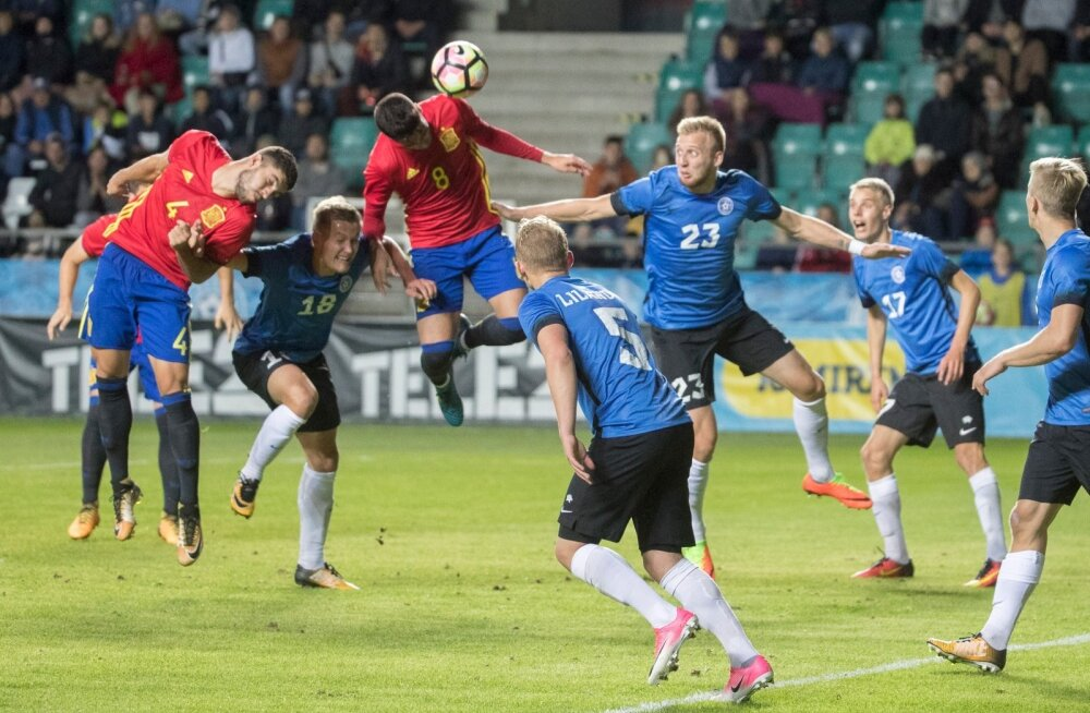 Jalgpall U21 Eesti vs Hispaania