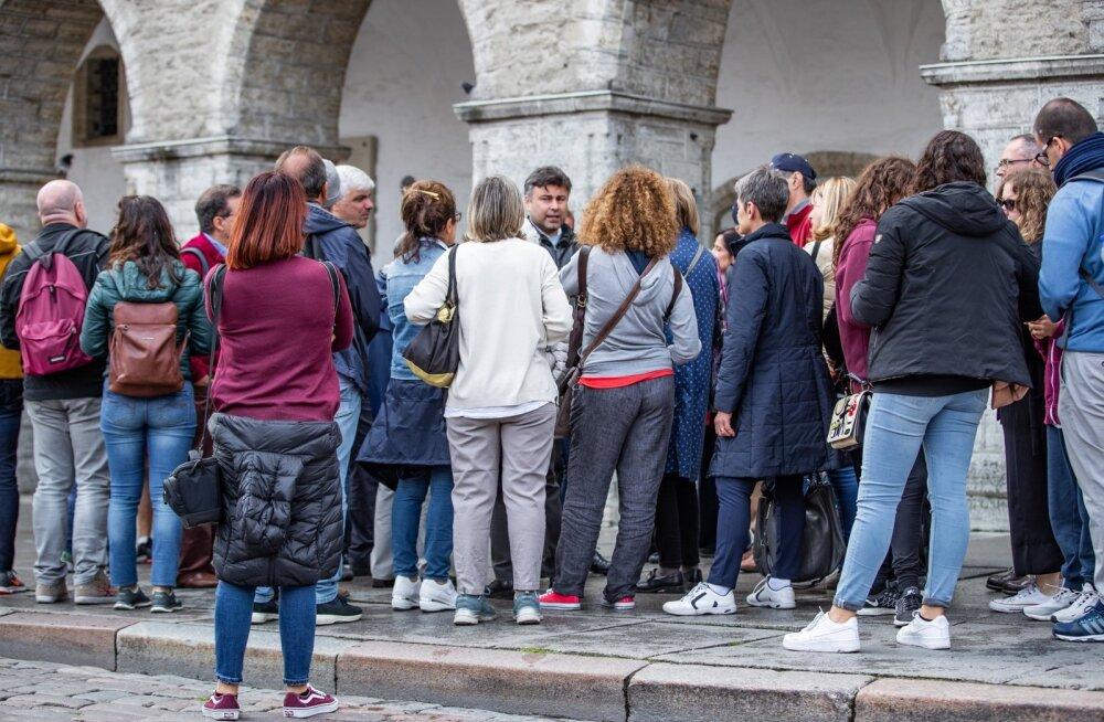 Kruiisi turistid Tallinnas