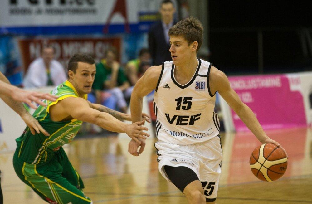 Korvpall Valga-Valka Läti liigas Riia VEF-iga