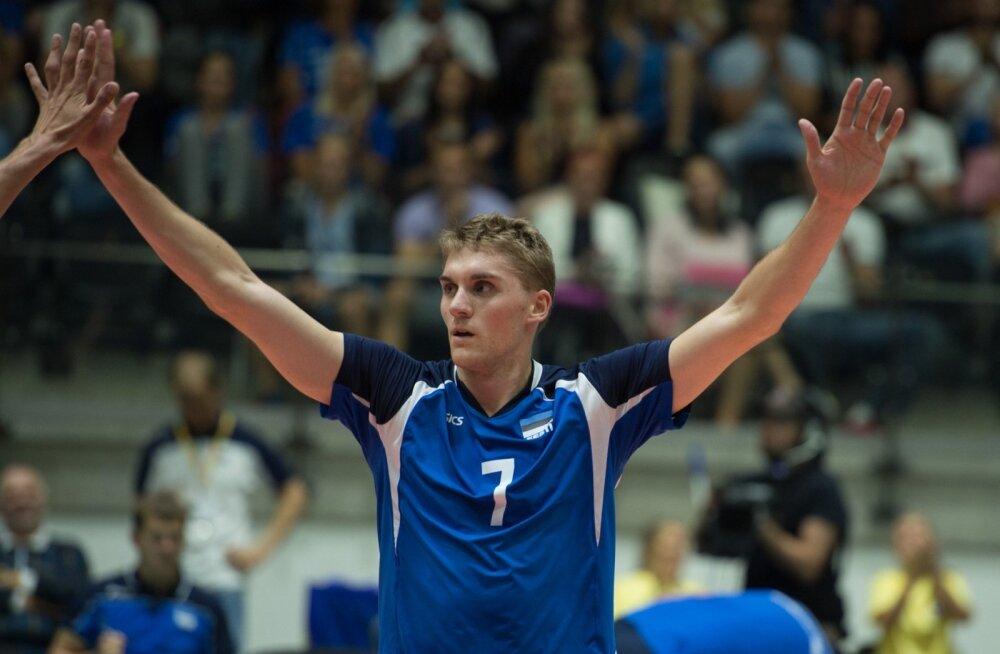 Võrkpall Eesti - Taani 31.07.2015