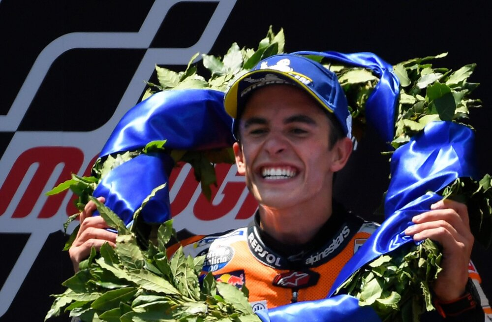 MotoGP: Valitsev maailmameister Marquez sai järjekordse etapivõidu, konkurendid katkestasid