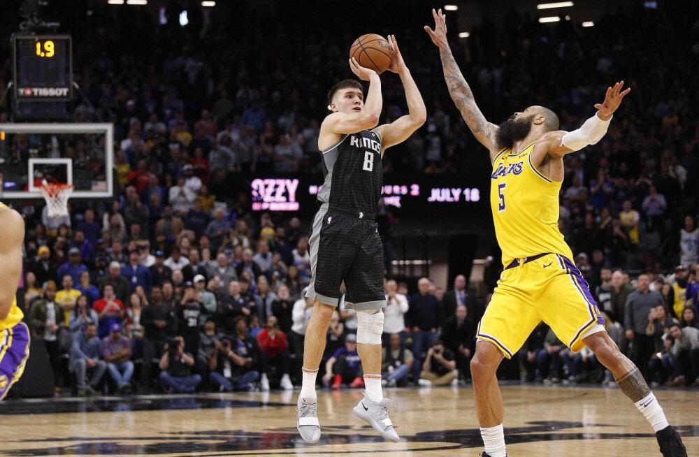 VIDEO | Serblase viimase sekundi võiduvise kukutas LeBronita Lakersi, Warriors sai kodus lüüa Portlandilt