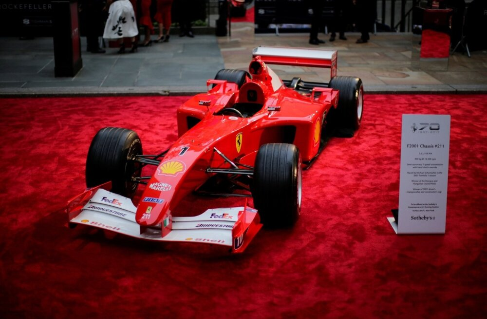 Ferrari, millega Michael Schumacher sai oma viimase võidu Monacos