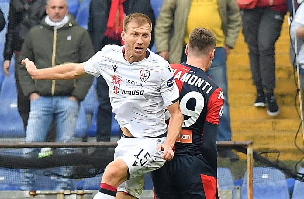 Cagliari sai lubamatu kaotuse, Klavan vahetati välja