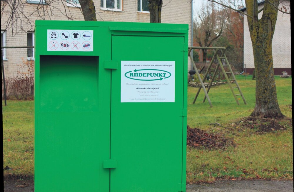 Riidekonteiner - abi nii ligimesele kui keskkonnale