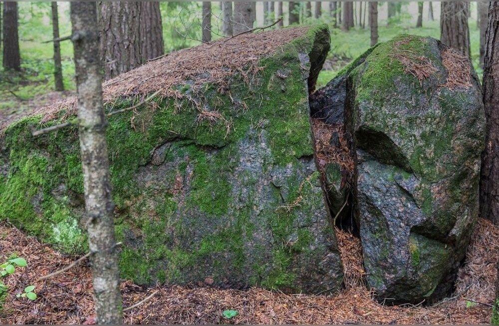 Üks tükkideks lagunenud kivi, mis algselt oli ilmselt samuti püsti seisnud. Püstiasendis olnuks tal kõrgust ca kolm meetrit. 