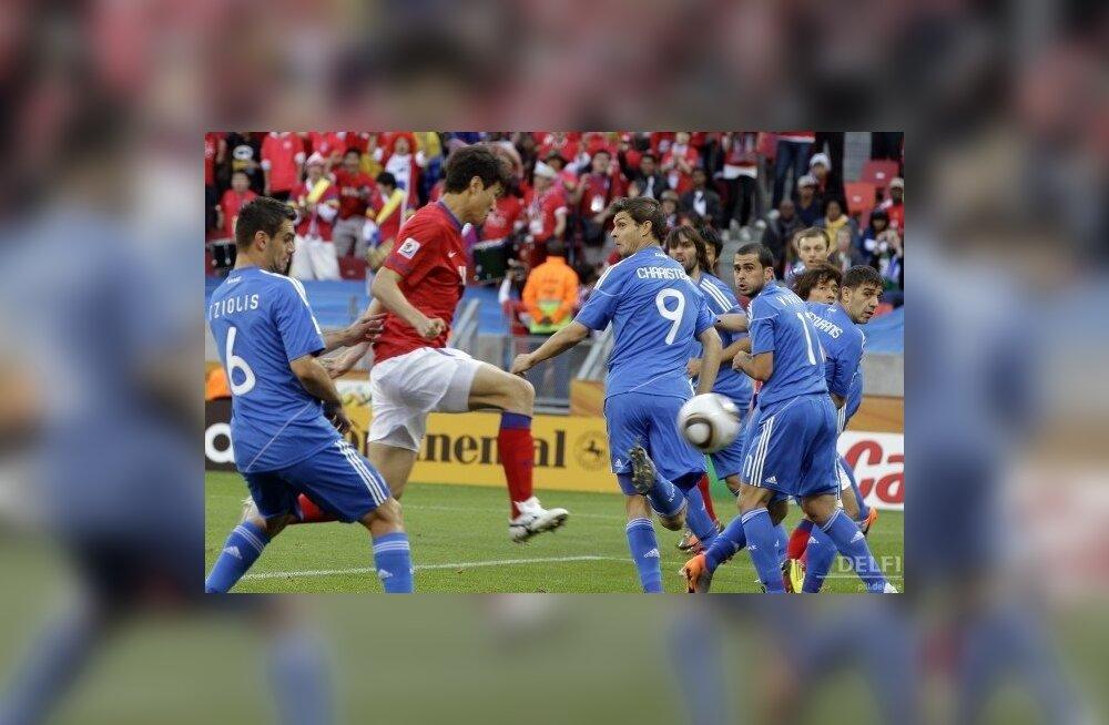 Nii sünnib Lõuna-Korea esimene värav Kreeka vastu, jalgpalli MM
