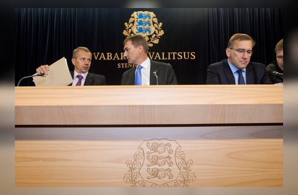 Jürgen Ligi, Andrus Ansip ja Juhan Parts