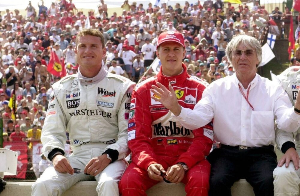 David Coulthard ja Michael Schumacher