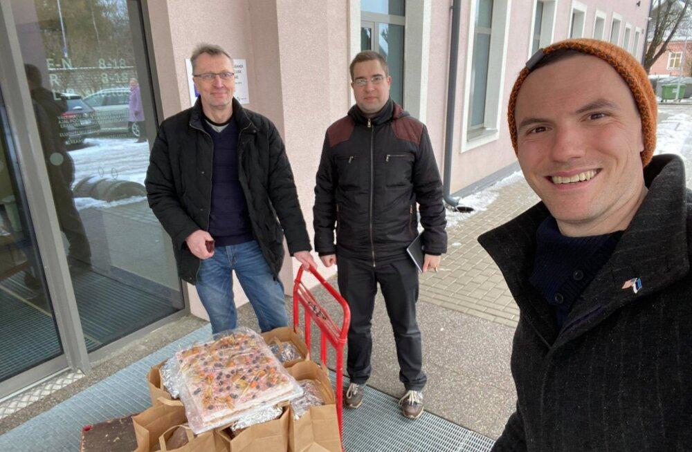 Rapla ettevõtja annetas haiglatöötajatele 50 toidukorda