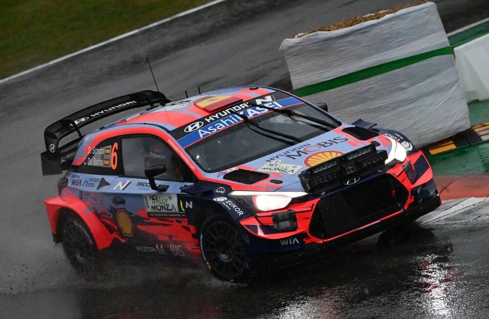 Sordo ja Lappi said Monza rallil karistada, esiviisik on vaid 7,7 sekundi sees