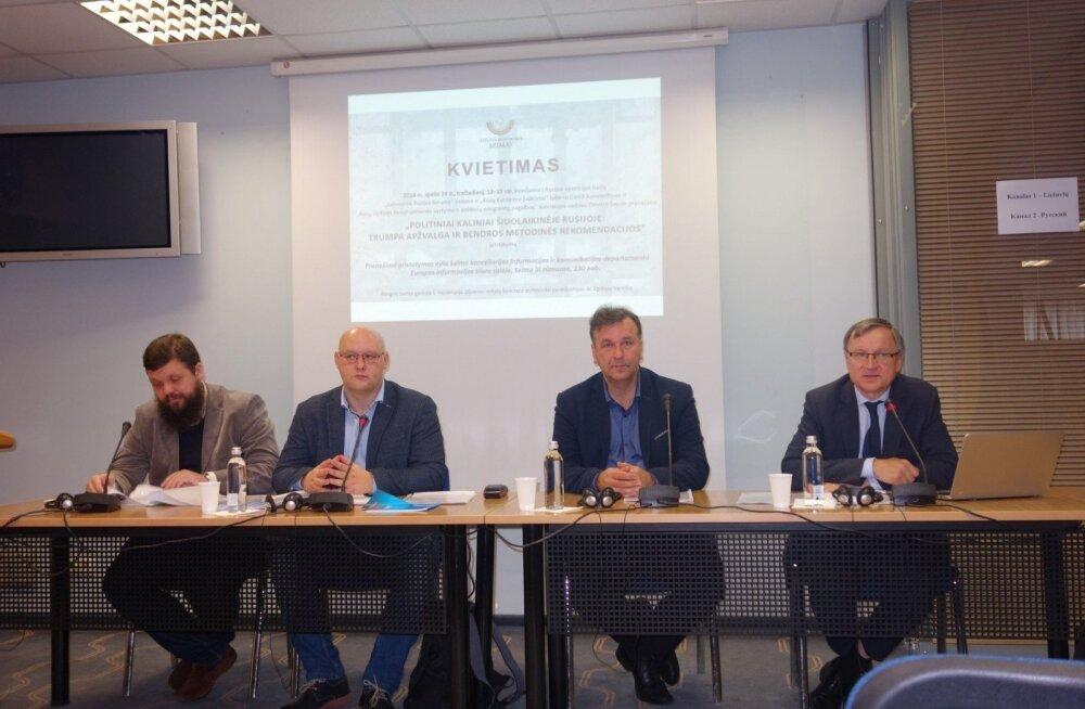 Российские политбеженцы презентовали в Литве доклад о политзаключенных и дали странам Балтии рекомендации